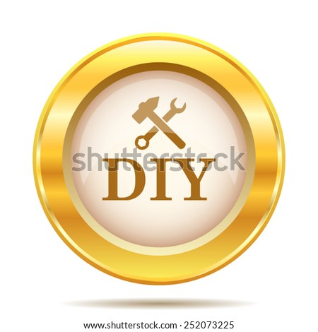 DIY icon. Internet button on white background. EPS10 vector.  - stock vector
