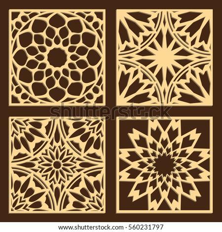 diy laser cutting patterns jigsaw die stock vector royalty free