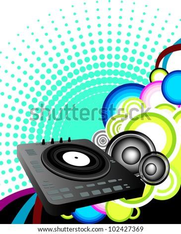 DJ Background - stock vector