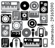 Dj Equipment - stock vector