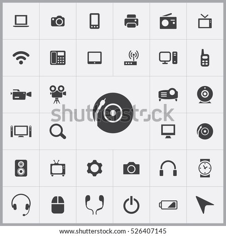 DJ icon. device icons universal set for web and mobile