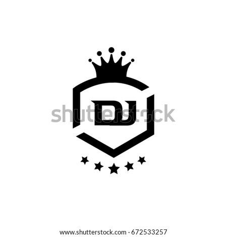 dj logo vector de stock libre de regalías 672533257 shutterstock