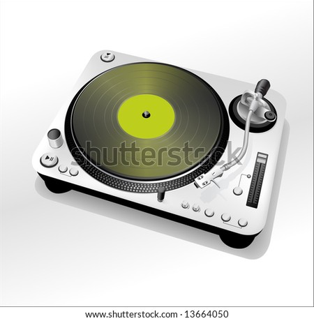 DJ turntable - green