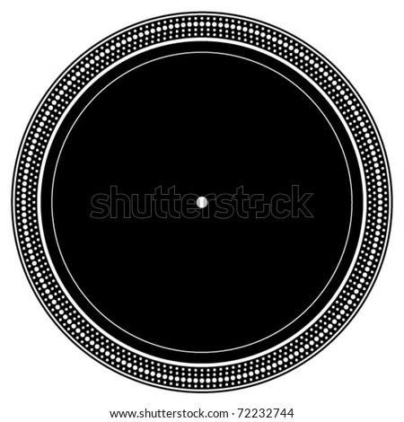 DJ turntable plate - stock vector
