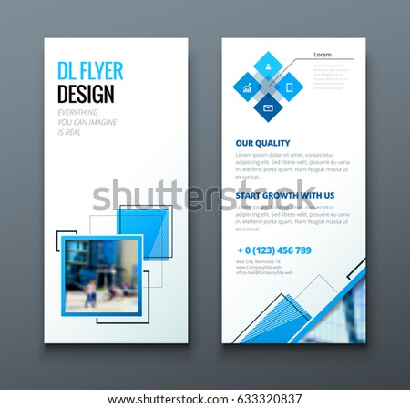 Dl Flyer Design Corporate Business Template Stock Vector Hd Royalty