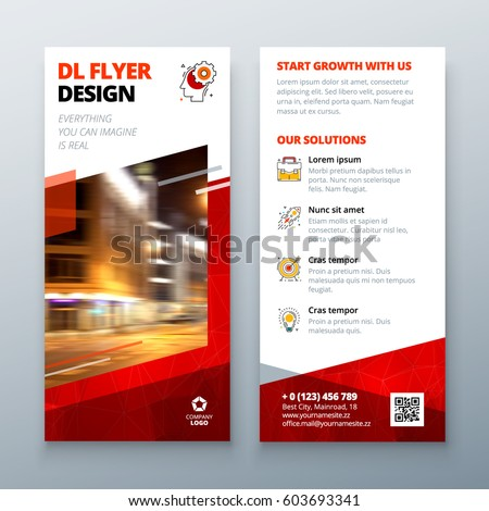 Dl Flyer Design Layout Dl Corporate Stock Vector Hd Royalty Free