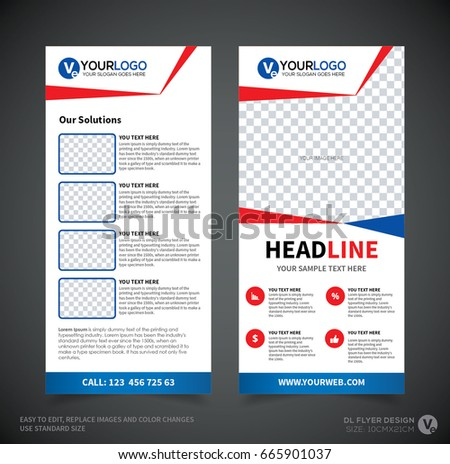 Dl Flyer Design Template Dl Corporate Stock Vector 2018 665901037