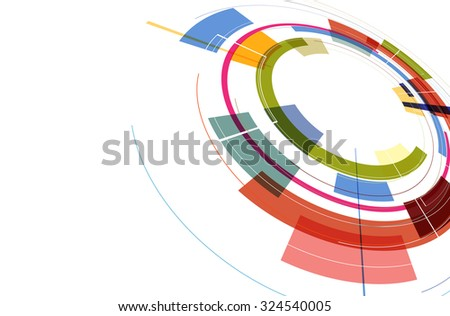 DNA Abstract icon and element collection. Futuristic technology interface. Vector format - stock vector