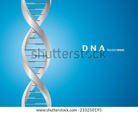 DNA background - stock vector