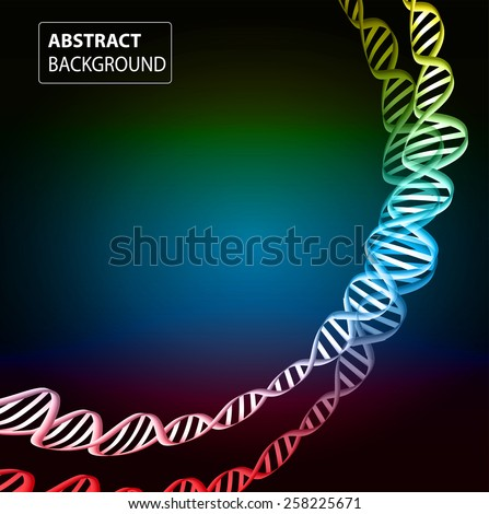 DNA background. molecular structure of planar elements. vector. colorful Light Abstract Technology background for computer graphic website internet and business. sound wave. - stock vector
