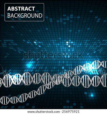 DNA background. molecular structure of planar elements. vector. dark blue Light Abstract Technology background for computer graphic website internet and business. text box. Tables, mosaic