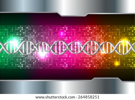 DNA background. molecular structure of planar elements. vector. green pink yellow Light Abstract Technology background for computer graphic website internet and business. silver. Pixel, mosaic, table - stock vector