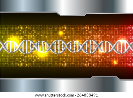 DNA background. molecular structure of planar elements. vector. orange red Light Abstract Technology background for computer graphic website internet and business. silver. Pixel, mosaic, table - stock vector