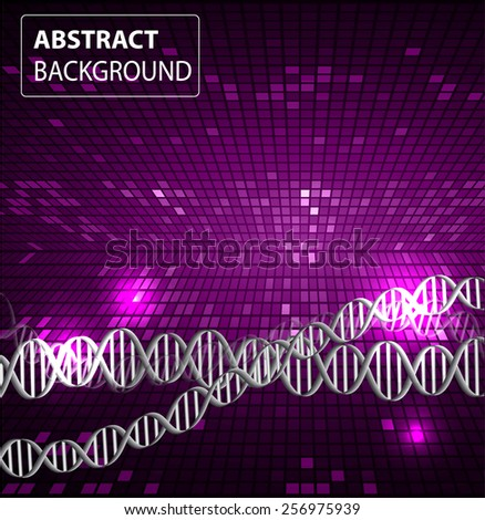 DNA background. molecular structure of planar elements. vector. purple Light Abstract Technology background for computer graphic website internet and business. text box. Tables, mosaic - stock vector