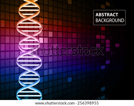 DNA background. molecular structure of planar elements. vector. red purple blue Light Abstract Technology background for computer graphic website internet and business. text box. - stock vector