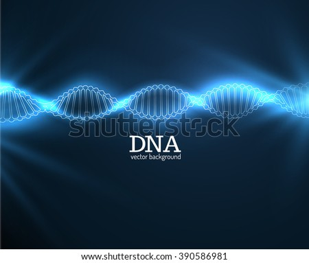 DNA chain vector science background. Vector eps10. - stock vector