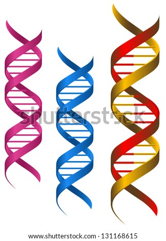 DNA elements and molecules for science and medicine design. Jpeg (bitmap) version also available in gallery - stock vector