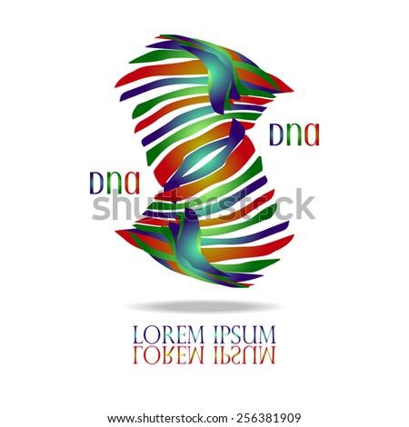 DNA Helix Logo vector design template. Creative idea logotype. Chemistry or biology concept design. Biotechnology symbol. Creative logo for Bio Cosmetics, Healthcare, Science.  - stock vector