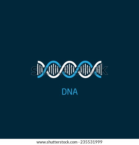 dna icon - stock vector