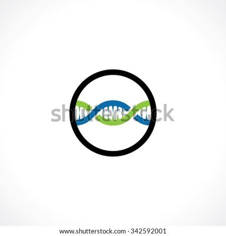 dna icon. logo template - stock vector