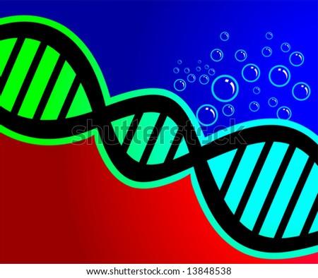 DNA model - stock vector