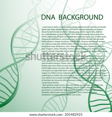 DNA molecular structure background. Vector illustration. - stock vector