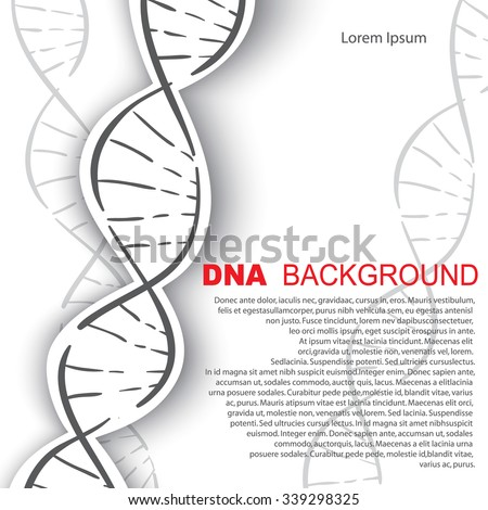 DNA molecular structure background. Vector illustration. - stock vector
