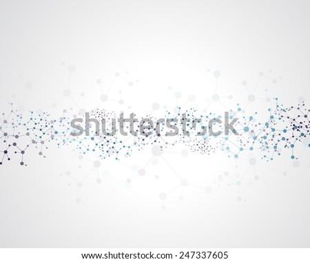 DNA molecule, abstract background - stock vector