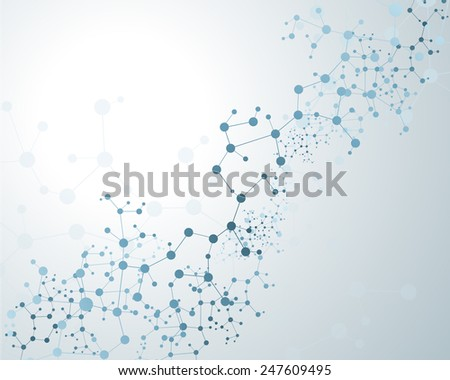 DNA molecule, abstract background - stock vector