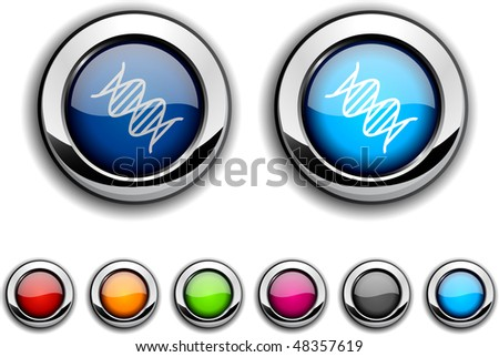 DNA realistic buttons. Vector illustration.