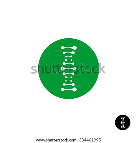 DNA simple science logo with metaball style elements - stock vector