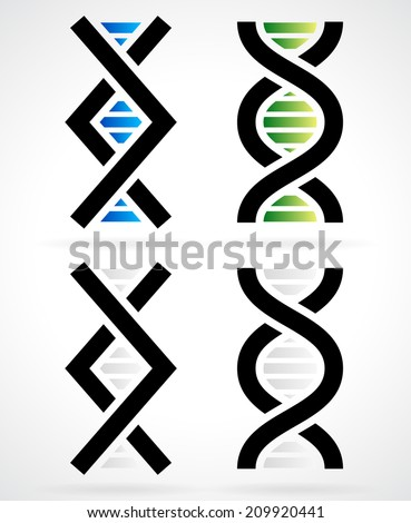 DNA strand, helix - stock vector