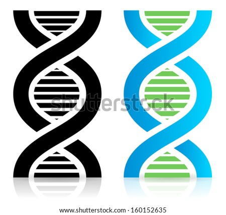 DNA strand icons - stock vector