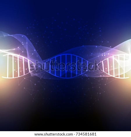 DNA strands on an abstract background