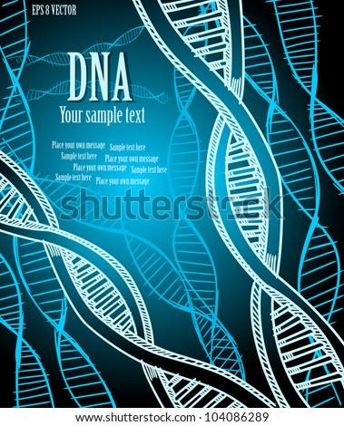 DNA strands. Vector illustration. Eps 10. - stock vector