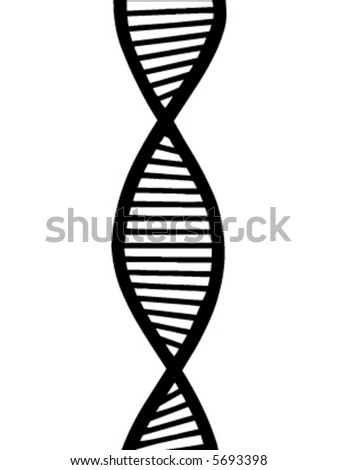 DNA vector - stock vector