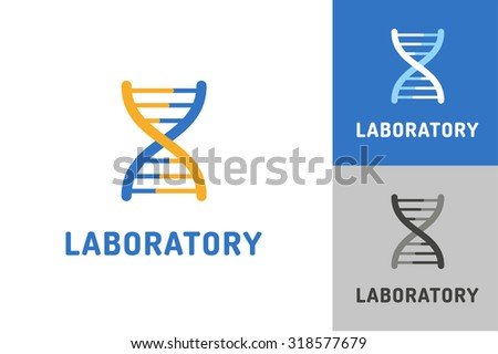 DNA vector logo. Technology biology DNA vector icon. DNA laboratory sign. Symbol of technology DNA chain isolated. DNA abstract silhouette leaves eco nature product. Leaves eco icon. DNA biology chain - stock vector