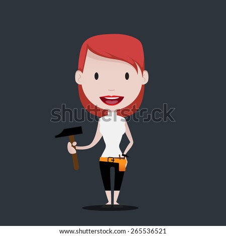 Do it yourself Girl - stock vector