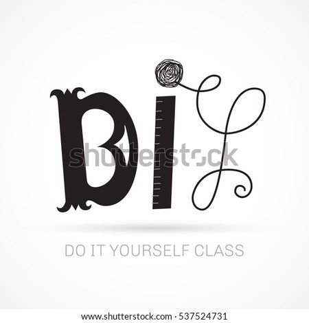 Do yourself hand lettered concept logo stock vector 537524731 do it yourself hand lettered concept logo for course or master class diy black header solutioingenieria Choice Image