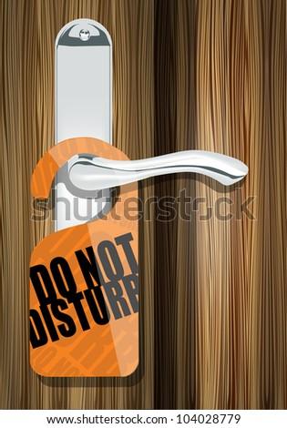 Do not disturb paper on door handle eps10 - stock vector