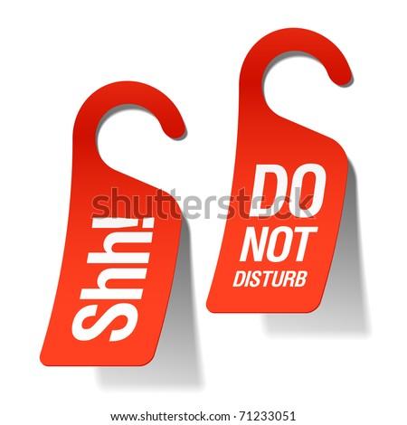 Do Not Disturb sign. Vector. - stock vector
