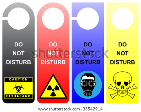 Do not disturb signs - pack 1 - stock vector