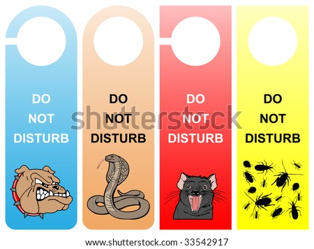 Do not disturb signs - pack 2 - stock vector