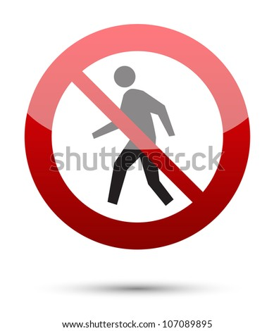 Do not enter sign - Authorized Personnel Only - stock vector