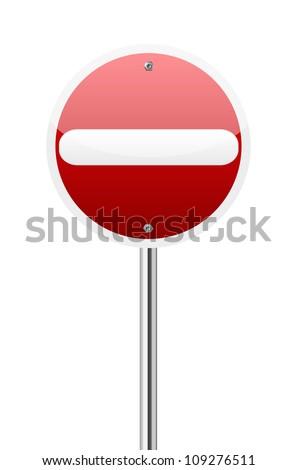 Do not enter traffic on white background - stock vector
