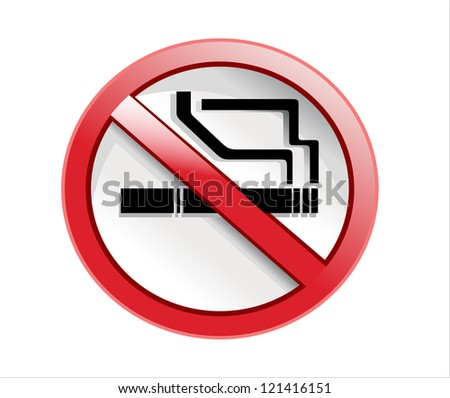 Do not smoke sign - stock vector