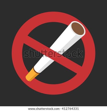 Do not smoke sign ban. Icon vector illustration. - stock vector