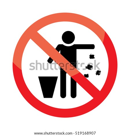 Do not throw rubbish sign stock vector 2018 519168907 shutterstock