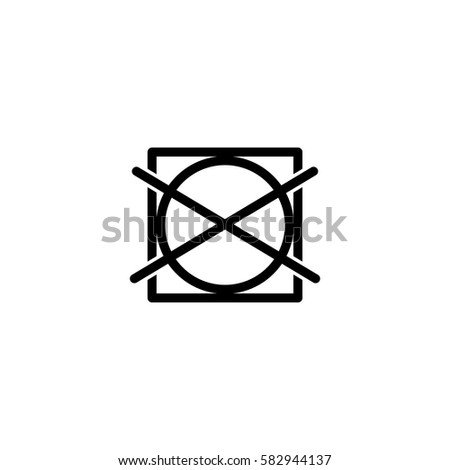 Do Not Tumble Dry Washing Laundry Stock Vector 582944137 Shutterstock