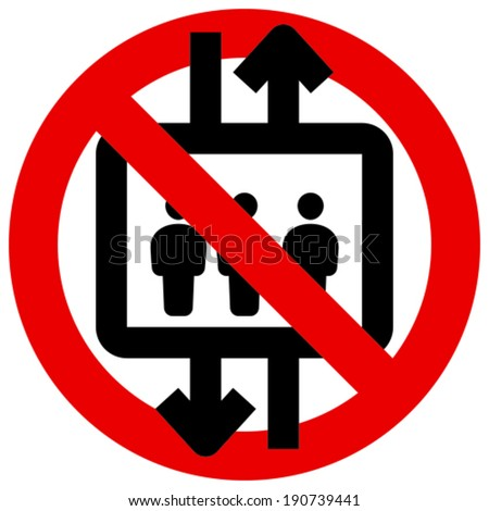 do not use elevator vector icon stock vector 190739441 shutterstock rh shutterstock com Cheese Clip Art Black and White User Clip Art